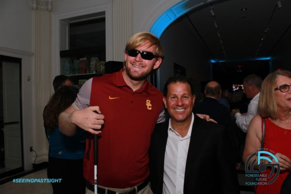 Jake Olson and Jamie Salter at the Foreseeable Future Foundation Annual Gala