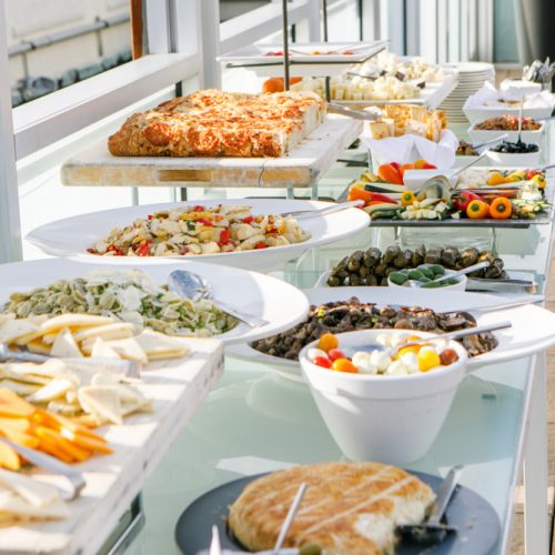 Some of the food items for our attendees on the roof. Looks delicious!